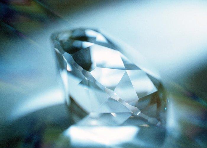Cut Diamond Greeting Card featuring the photograph Cut Diamond by Pasieka