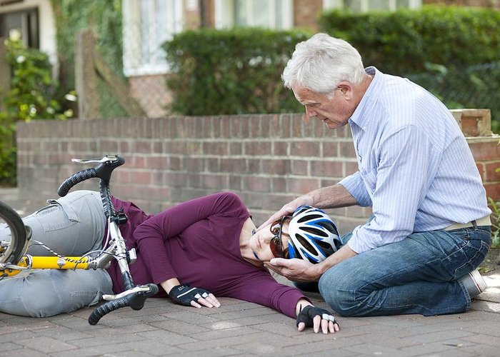 Healthcare Greeting Card featuring the photograph Cycling Accident by