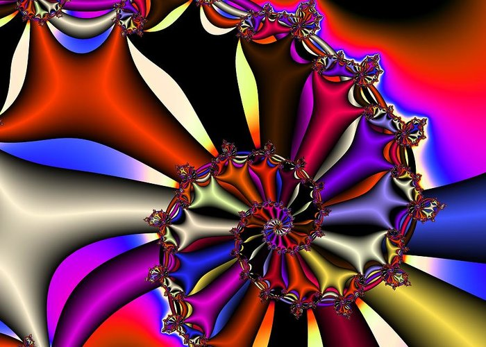 Cyclone Greeting Card featuring the digital art Cyclone Of Color by Christy Leigh