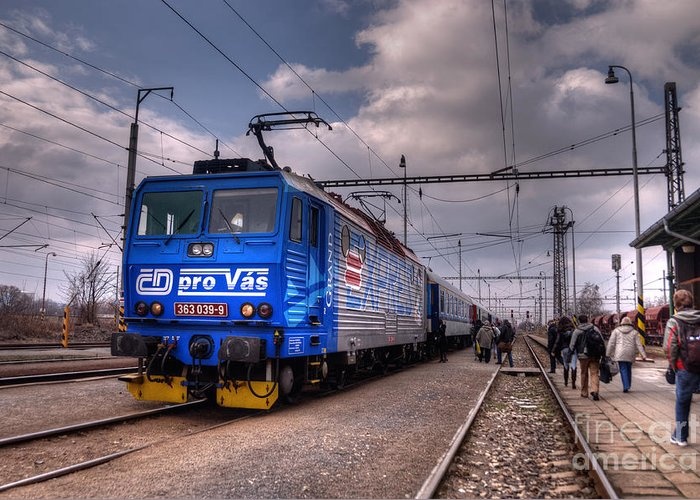Czech Greeting Card featuring the photograph Czech Express by Rob Hawkins