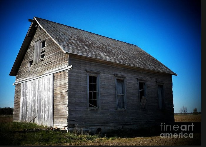 Schools Greeting Card featuring the photograph Daddys Old School House by Joyce Kimble Smith
