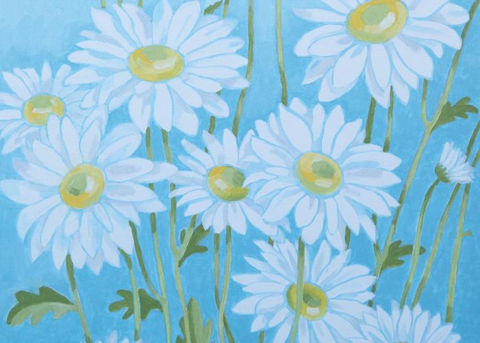 Daisies Greeting Card featuring the painting Daisies # 3 by Cilla Mays