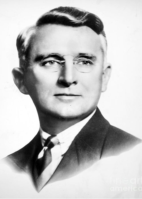 1940s Greeting Card featuring the photograph Dale Carnegie (1888-1955) by Granger