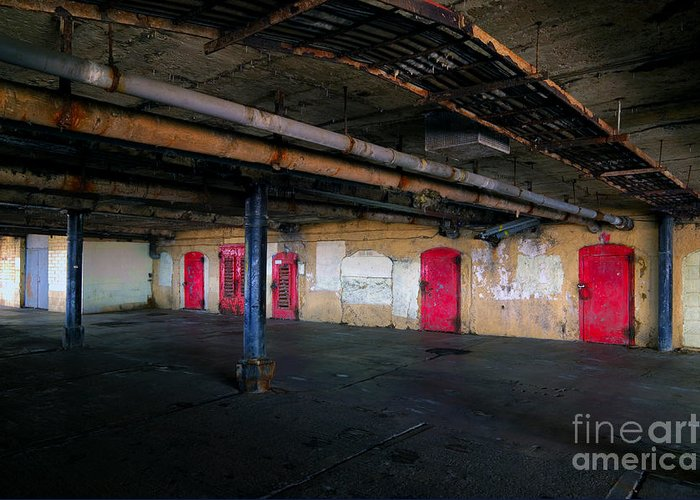 Basement Greeting Card featuring the photograph Damp Basement Area by Richard Thomas