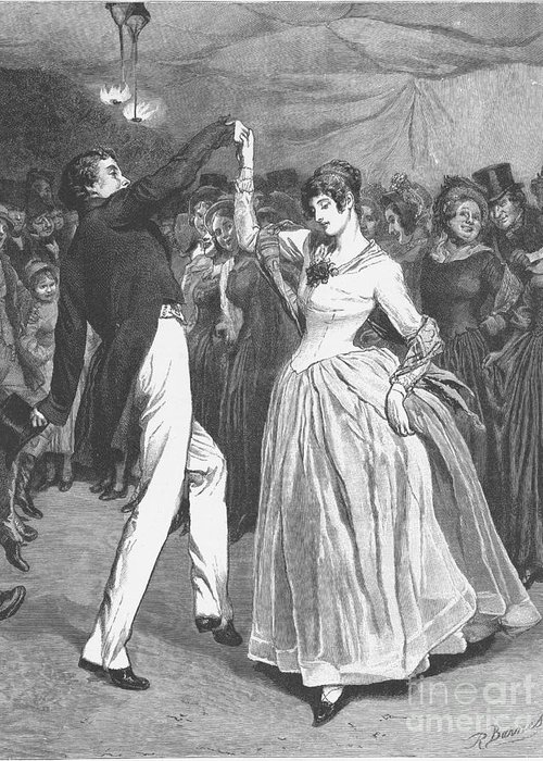 1886 Greeting Card featuring the photograph Dance, 19th Century by Granger