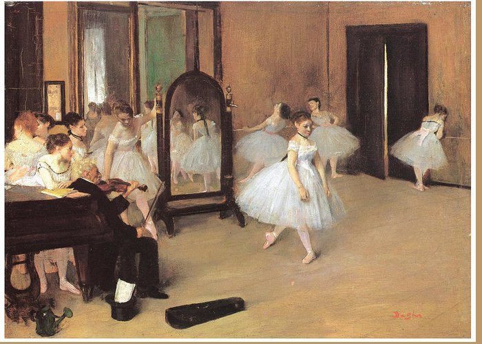 Dance Class Greeting Card featuring the painting Dance Class by Edgar Degas