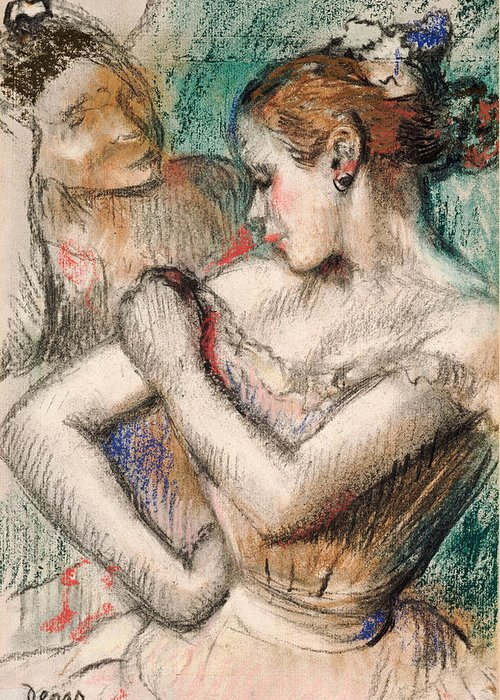 Dancer Greeting Card featuring the pastel Dancer by Edgar Degas