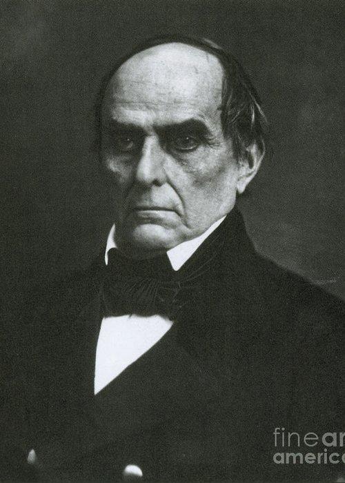 Daniel Webster Greeting Card featuring the photograph Daniel Webster, Kentucky Senator by Photo Researchers