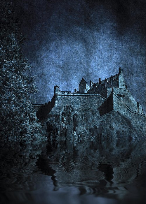 Abbey Greeting Card featuring the photograph Dark Castle by Svetlana Sewell