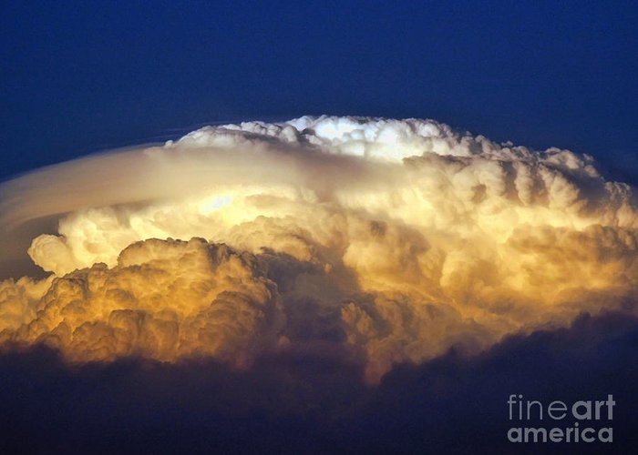 Clouds Greeting Card featuring the photograph Dark Clouds - 3 by Graham Taylor