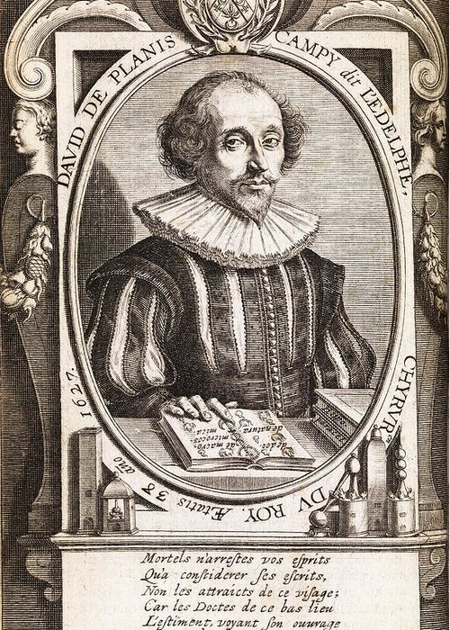 David De Planis Campy Greeting Card featuring the photograph David De Planis Campy, French Alchemist by Middle Temple Library