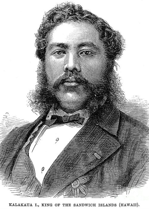 1881 Greeting Card featuring the photograph David Kalakaua (1836-1891) by Granger