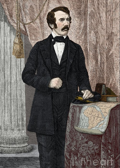 History Greeting Card featuring the photograph David Livingstone, Scottish Missionary by New York Public Library
