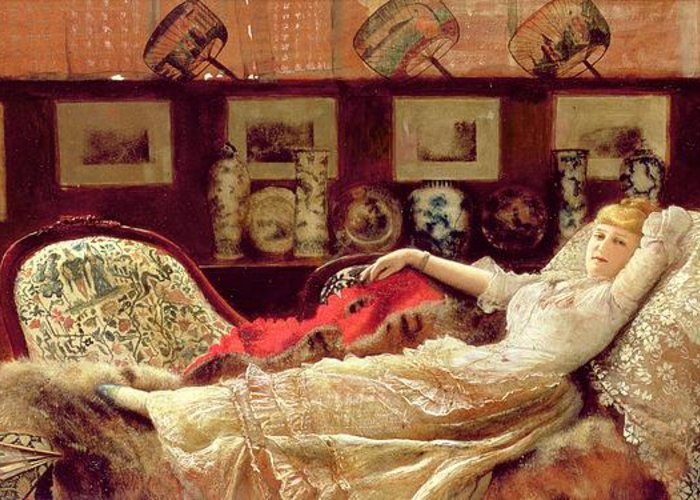 Day Dreams Greeting Card featuring the painting Day Dreams by John Atkinson Grimshaw