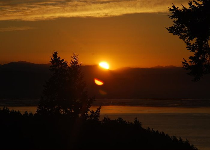 Sunrise Greeting Card featuring the photograph Daybreak by Michael Merry
