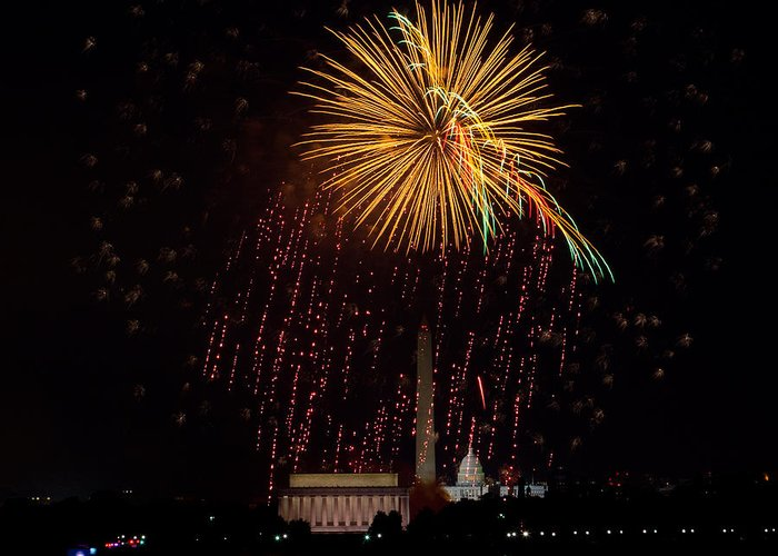 4th Of July Greeting Card featuring the photograph Dc Celebration by David Hahn