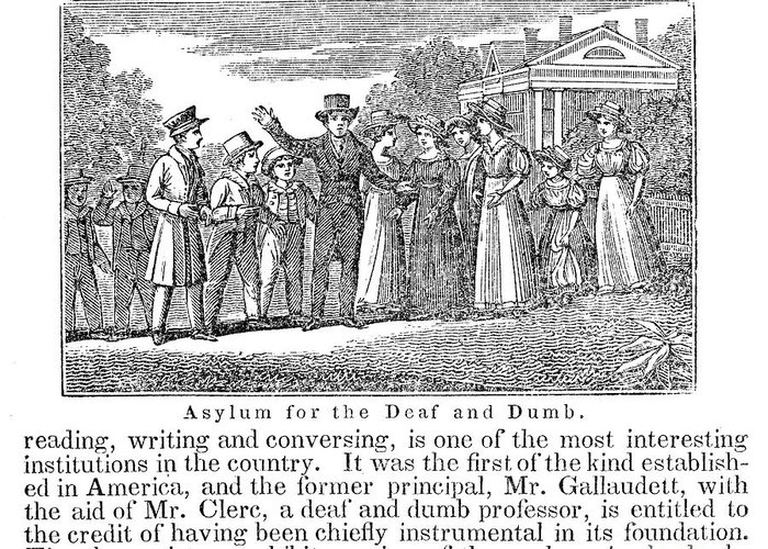 1842 Greeting Card featuring the photograph Deaf And Dumb School, 1842 by Granger