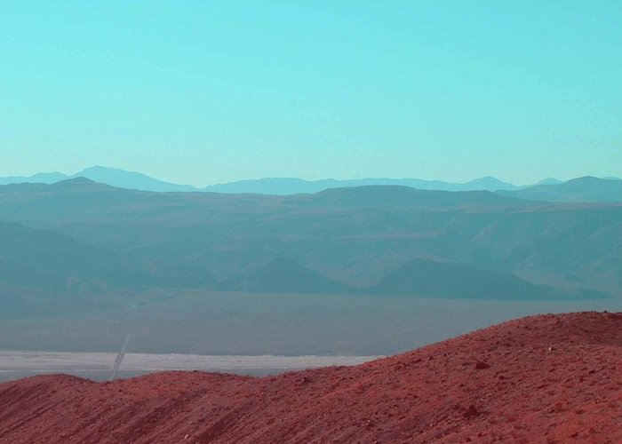 Nature Greeting Card featuring the photograph Death Valley View 2 by Naxart Studio