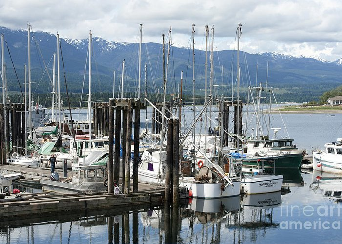 Deep Bay British Columbia Greeting Card featuring the photograph Deep Bay Harbor by Artist and Photographer Laura Wrede