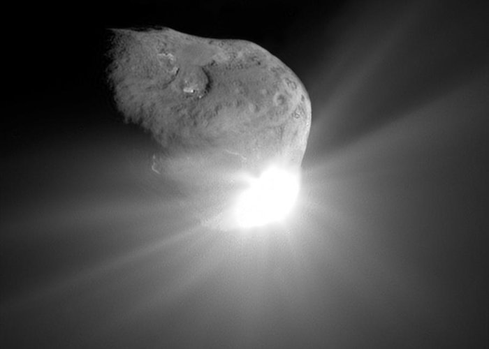 Tempel 1 Greeting Card featuring the photograph Deep Impact Comet Strike by Nasa