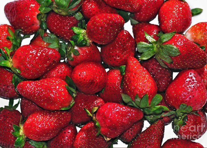 Photography Greeting Card featuring the photograph Deliciously Sweet Strawberries by Kaye Menner