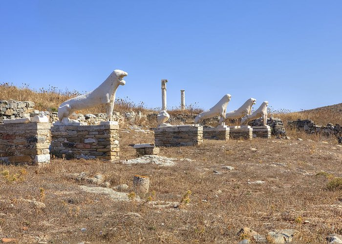 Delos Greeting Card featuring the photograph Delos by Joana Kruse