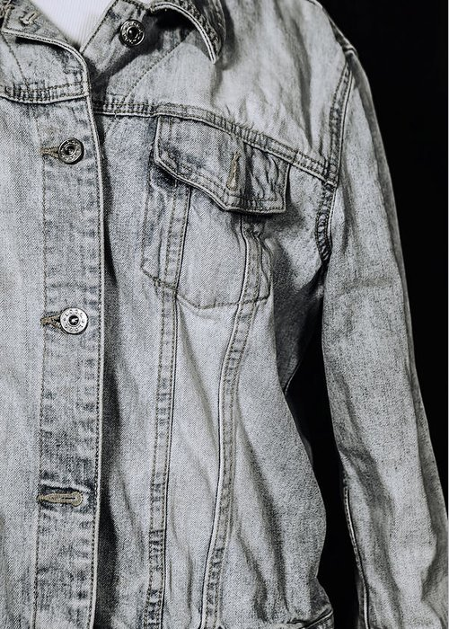 Jeans Greeting Card featuring the photograph Denim Jacket by Joana Kruse