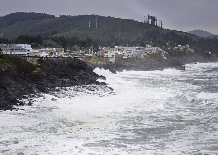 Oregon Greeting Card featuring the photograph Depoe Bay Oregon by Kevin Felts