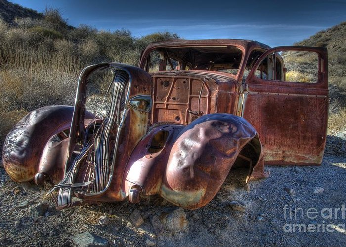 Old Cars Greeting Card featuring the photograph Desert Beauty by Bob Christopher