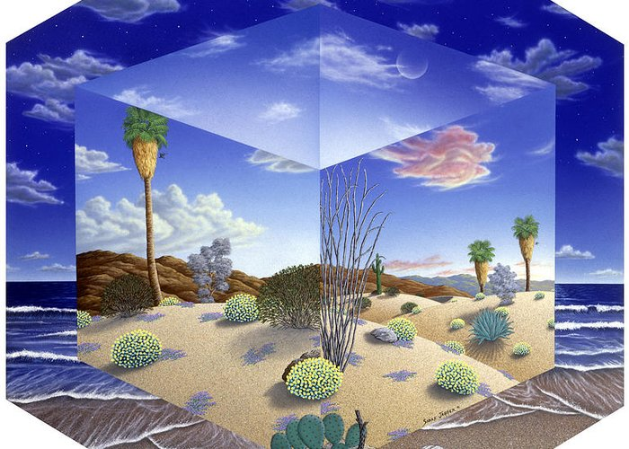 Desert Greeting Card featuring the painting Desert On My Mind by Snake Jagger