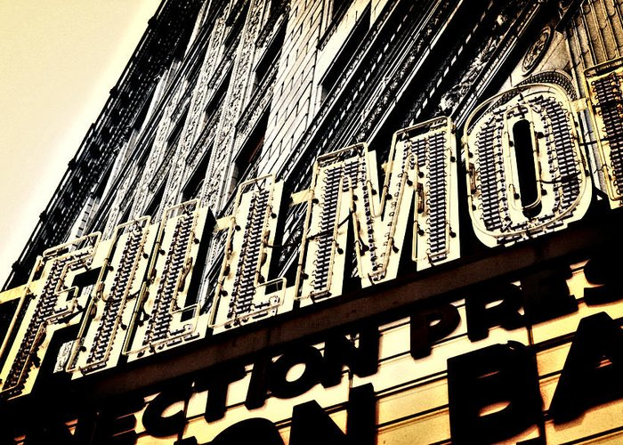 Detroit Greeting Card featuring the photograph Detroit Fillmore Theatre by Alanna Pfeffer