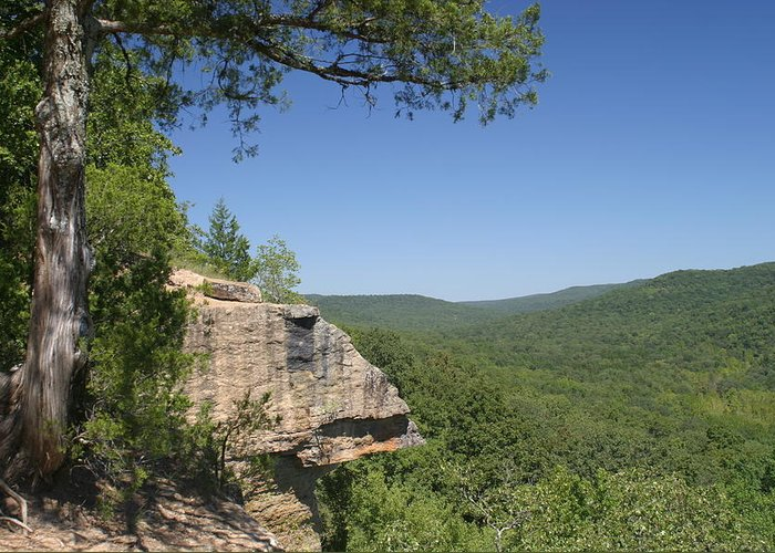 Arkansas Greeting Card featuring the photograph Devils Den Arkanas by Norman Crostic