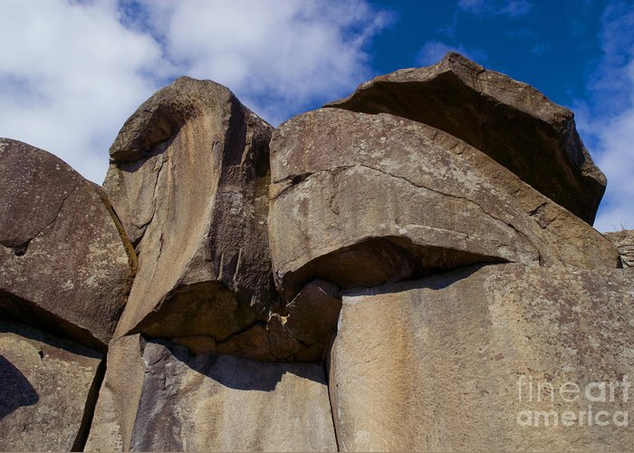 Civil War Greeting Card featuring the photograph Devil's Den Formation 74 by Paul W Faust - Impressions of Light