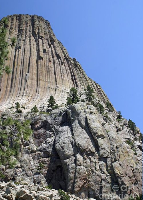 Devil's Tower Greeting Card featuring the photograph Devil's Tower 2 by Living Color Photography Lorraine Lynch