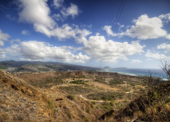 Crater Greeting Card featuring the photograph Diamond Head 1 by Jessica Velasco