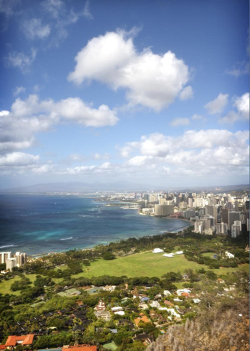 Sky Greeting Card featuring the photograph Diamond Head 6 by Jessica Velasco