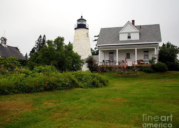 Dice Head Lighthouse Greeting Card featuring the photograph Dice Head Lighthouse by Brenda Giasson