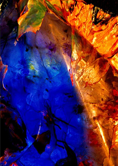 Abstract Greeting Card featuring the digital art Dichotomy 2 by Colleen Cannon