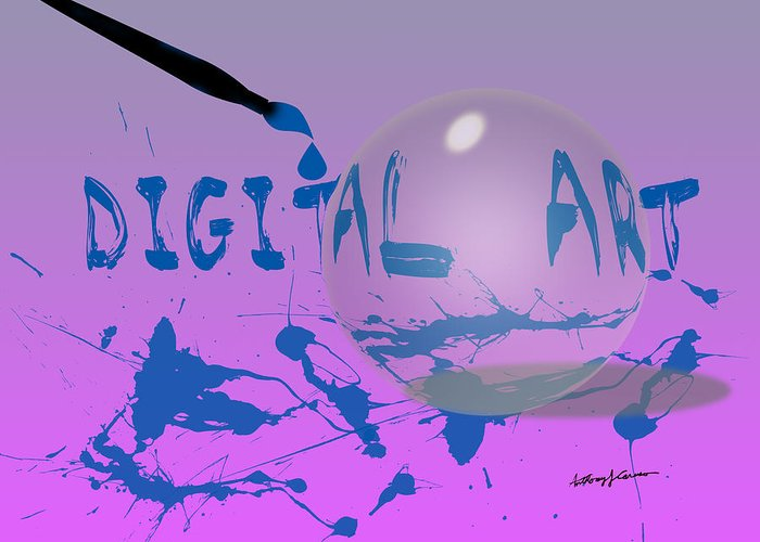 Abstract Greeting Card featuring the digital art Digital Art by Anthony Caruso