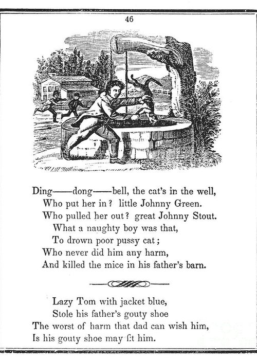 1833 Greeting Card featuring the photograph Ding Dong Bell, 1833 by Granger