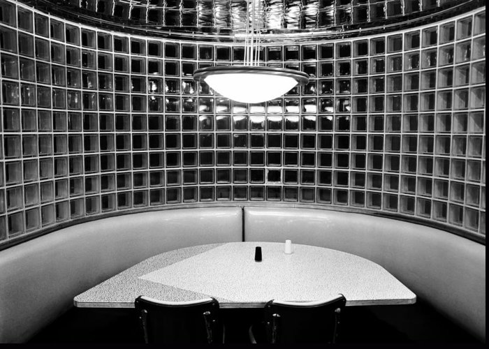 Fine Art Photography Greeting Card featuring the photograph Dining In Black And White by David Lee Thompson