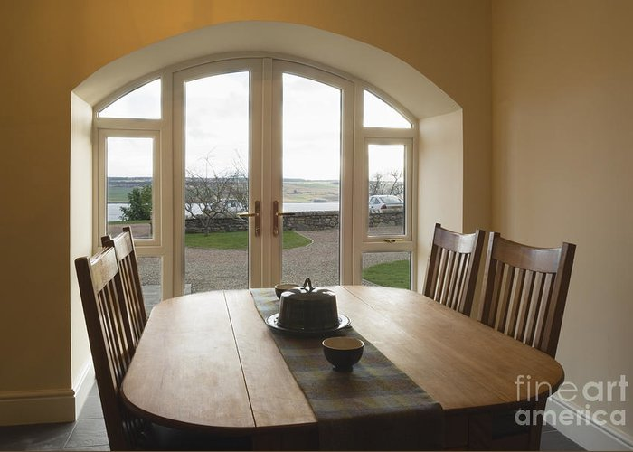 Apartment Greeting Card featuring the photograph Dining Room Table by Iain Sarjeant