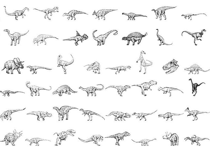 Cartoon Greeting Card featuring the drawing Dinosaur Collection by Karl Addison