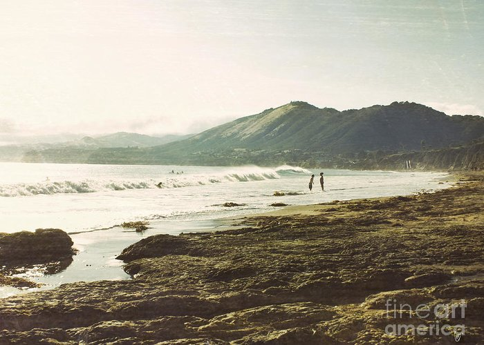 Ocean Greeting Card featuring the photograph Distant Conversations by Cindy Garber Iverson
