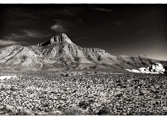 Distant Peak Greeting Card featuring the photograph Distant Peak by John Rizzuto