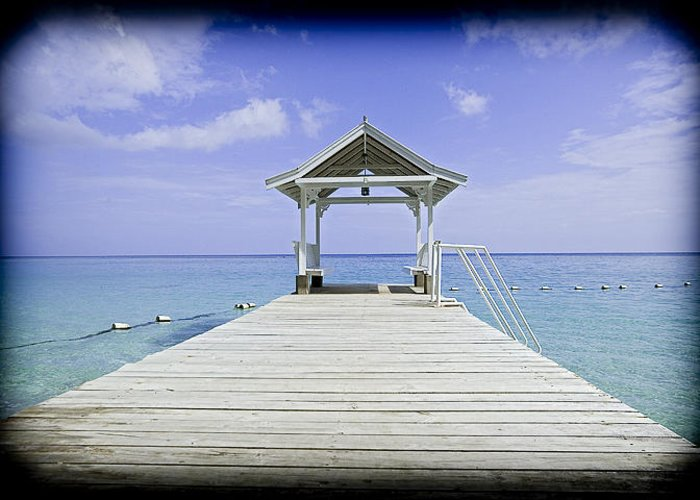 Rhea Bowden Greeting Card featuring the photograph Dock Of The Bay by Rhea Rustan
