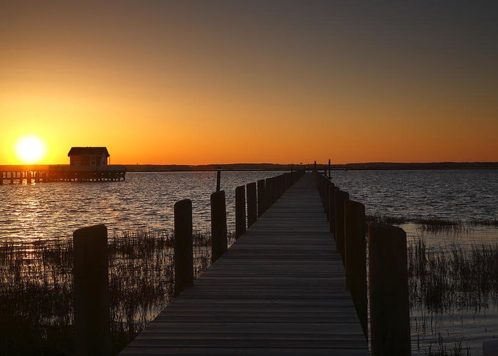 Dock Greeting Card featuring the photograph Dock On The Bay by Steven Ainsworth