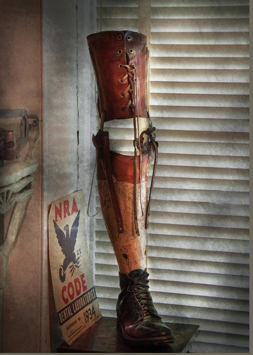 Hdr Greeting Card featuring the photograph Doctor - A Leg Up In The Competition by Mike Savad