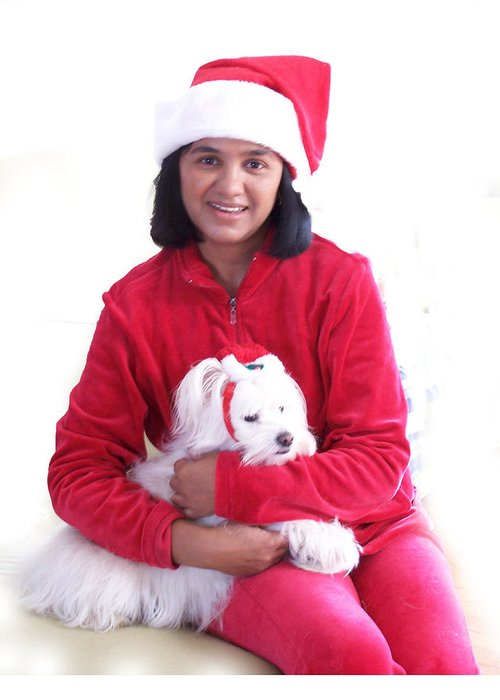 Santa Paws Greeting Card featuring the photograph Doggie Christmas by Vijay Sharon Govender