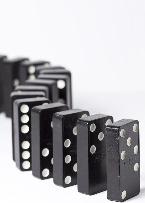Domino Greeting Card featuring the photograph Dominos S 1 by John Brueske